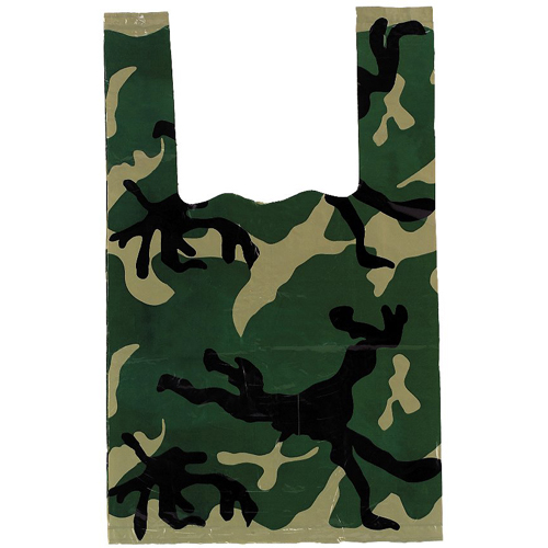 Woodland Camo Small Shopping Bag