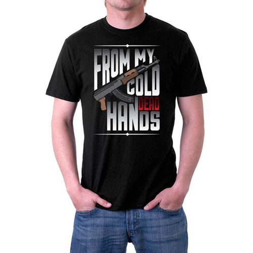 From My Cold Dead Hands Custom Printed Black T-shirt