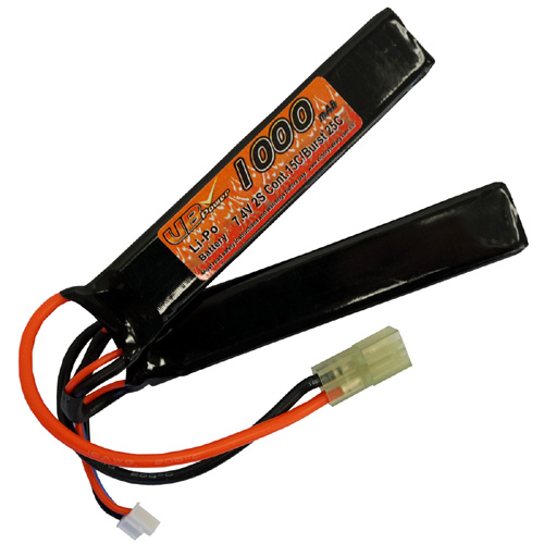 1000mAh 7.4V-2 LiPO 15C Battery