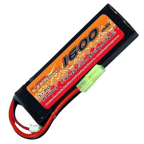 VB VB-LiPO1600H20C-7.4V-1 20C Cont. LiPO battery