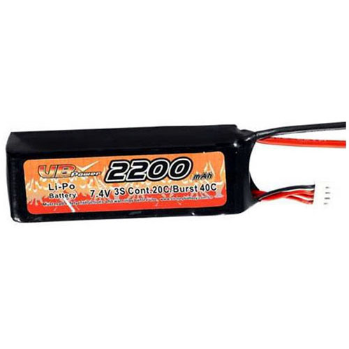 VB VB-LiPO2200H20C-7.4V 20C Cont. LiPO battery