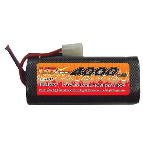 VB VB-LiPO4000H25C-7.4V 25C Cont. LiPO battery
