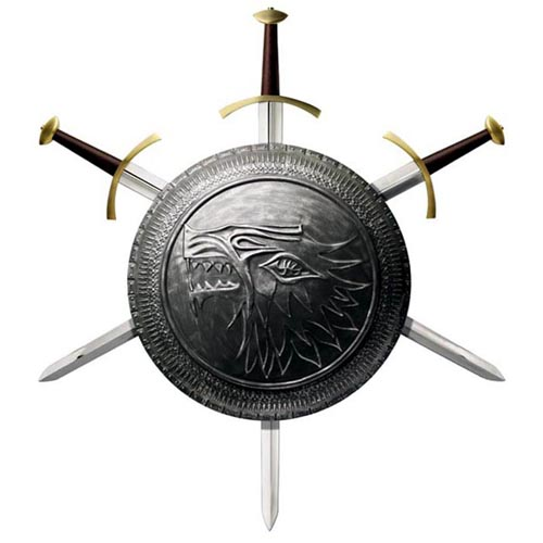 Valyrian Steel Game of Thrones Stark Shield