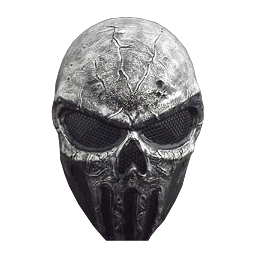 Metal Mesh Skull Punisher Gray airsoft Mask