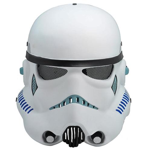 Metal Mesh Star Wars white pawns Fiberglass Full Face Mask