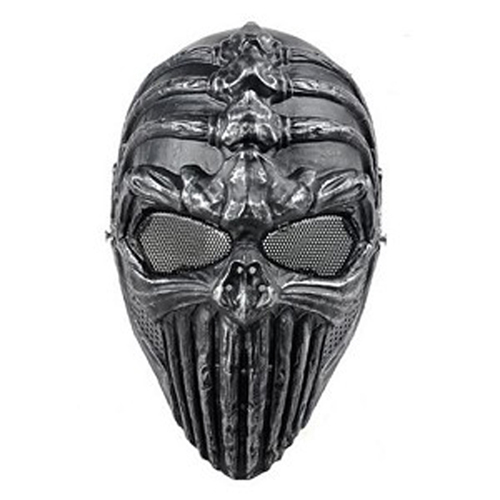 Spine Tingler Airsoft Mask - Antique Silver Finish