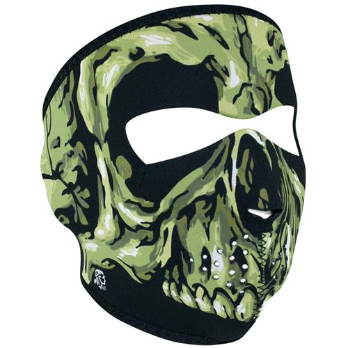 Neoprene Green Skull Full Face Mask