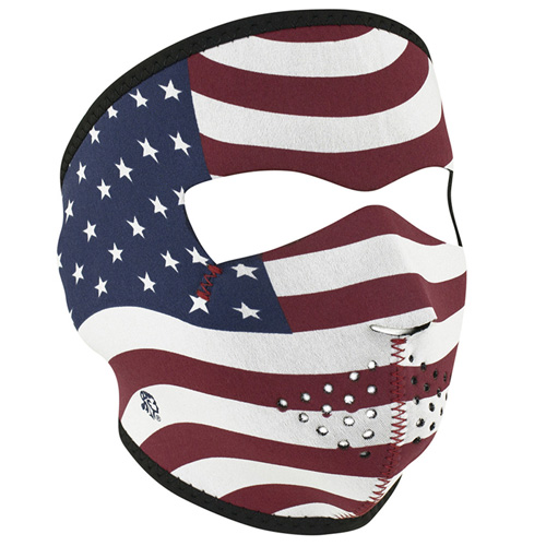 Neoprene USA Flag Stars And Stripes Face Mask