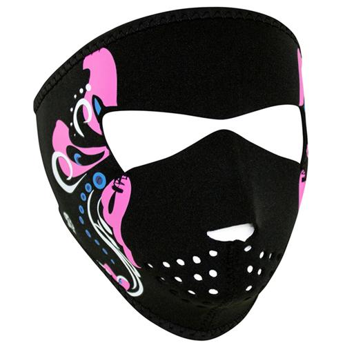 Neoprene Womens Mardi Gras Face Mask