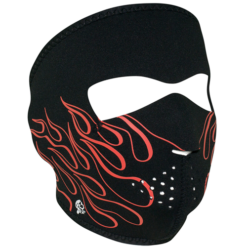 Neoprene Orange Flame Face Mask