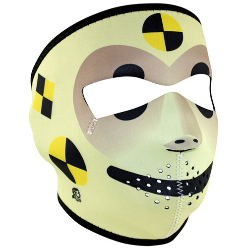 Neoprene Crash Test Dummy Face Mask