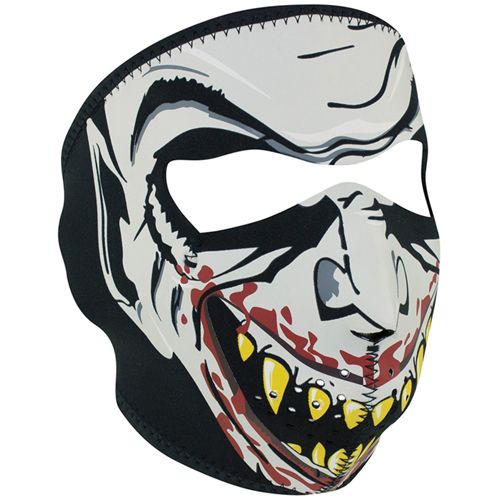 Neoprene Glow in the Dark, Vampire Face Mask