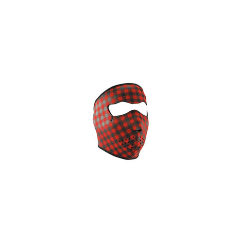 Neoprene Buffalo Plaid Face Mask