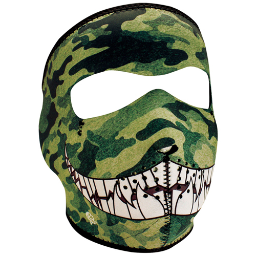 Neoprene Camo With Teeth Face Mask