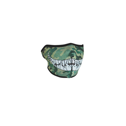 Neoprene Camo With Teeth 1/2 Face Mask