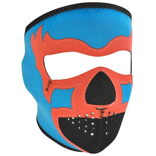 Neoprene Lucha Libre, Blue Face Mask