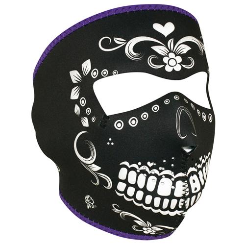 Neoprene Black White Muerte Face Mask