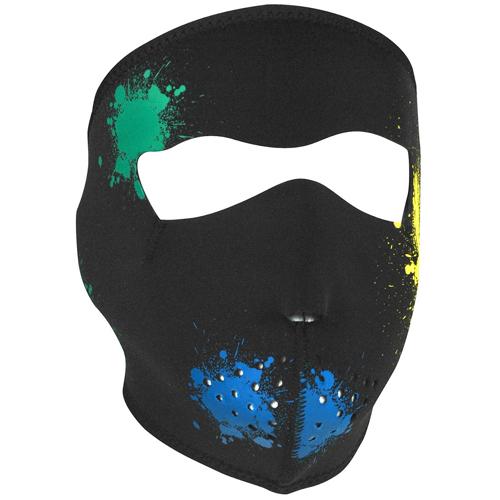 Neoprene Splatter Glow in the Dark Face Mask
