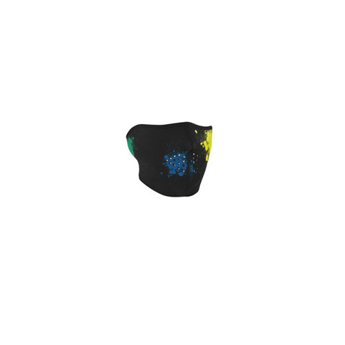 Neoprene Splatter Glow in the Dark 1/2 Face Mask