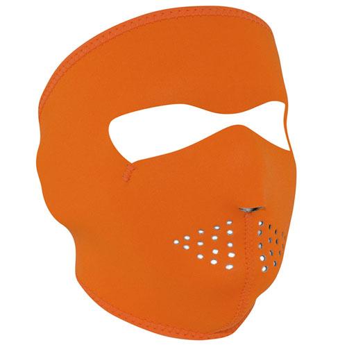 Neoprene High Visibility Orange Face Mask