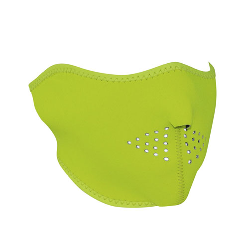Neoprene High Visibility Lime 1/2 Face Mask