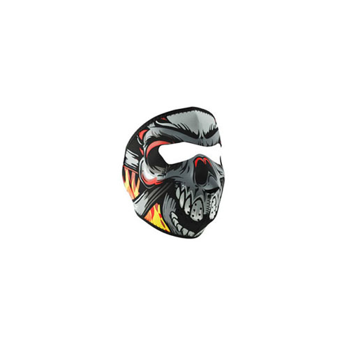 Neoprene Lethal Threat Flame Skull Face Mask