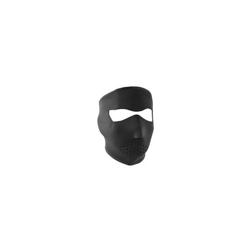 Neoprene Small Solid Black Face Mask