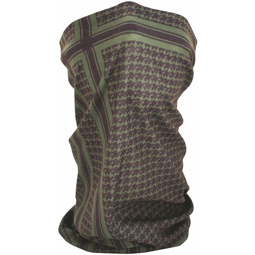 Motley Tube and trade Fleece Lined Houndstooth Olive