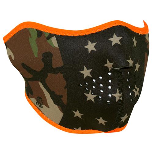 Half Mask Neoprene Camo Stars