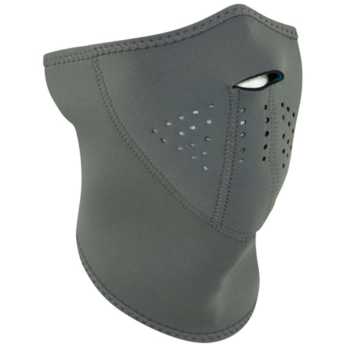 3-Panel Half Mask Neoprene Gray Reverses to Teal