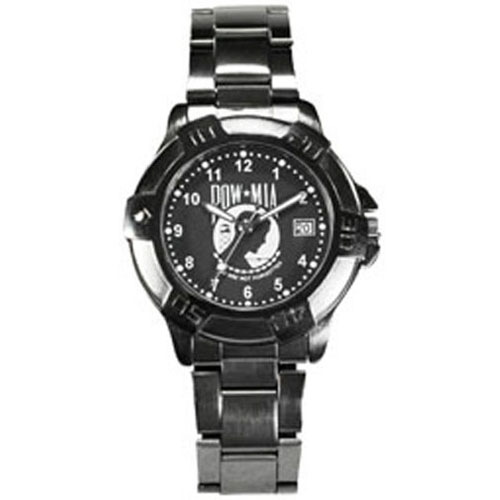 Military Watch Gun Metal Finish POW-MIA w- Date
