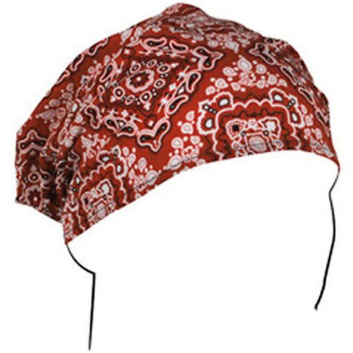 Headwrap Cotton Red Paisley