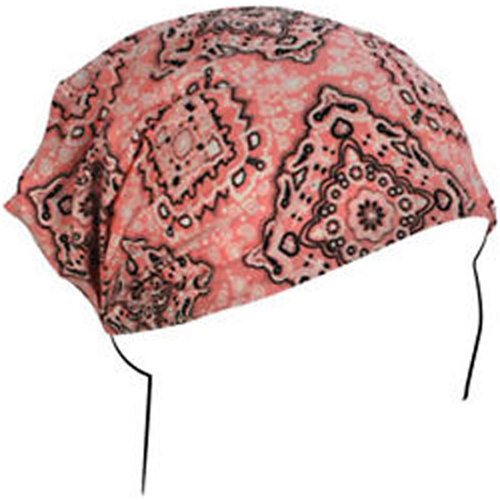 Headwrap Cotton Pink Paisley