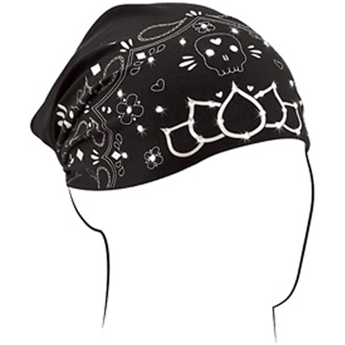 Headwrap Highway Honey and reg Cotton-Bamboo Skull Paisley