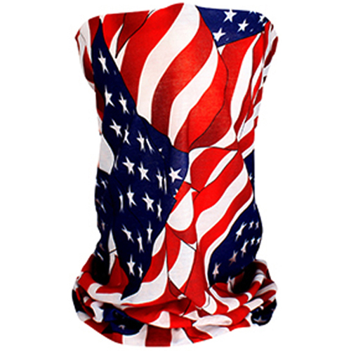 Motley Tube and trade Fleece Lined Wavy American Flag