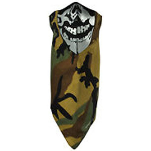 Neodanna and reg Mask Cotton-Neoprene Camo Skull Reflectiv