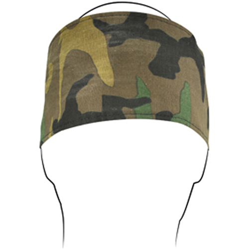 Headband w- Fleece Cotton Woodland Camo
