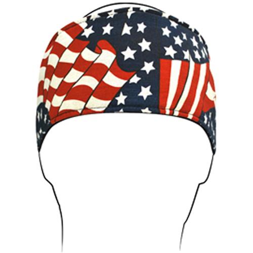 Headband Cotton Wavy American Flag