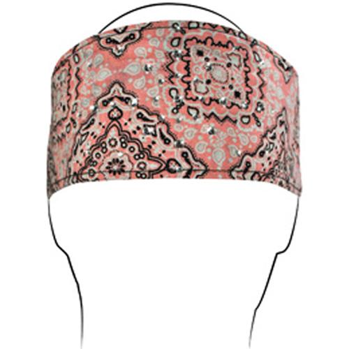 Headband Cotton Highway Honey and reg Pink Paisley Rhines