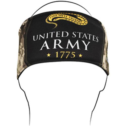 Headband Polyester U.S. Army Camo Logo