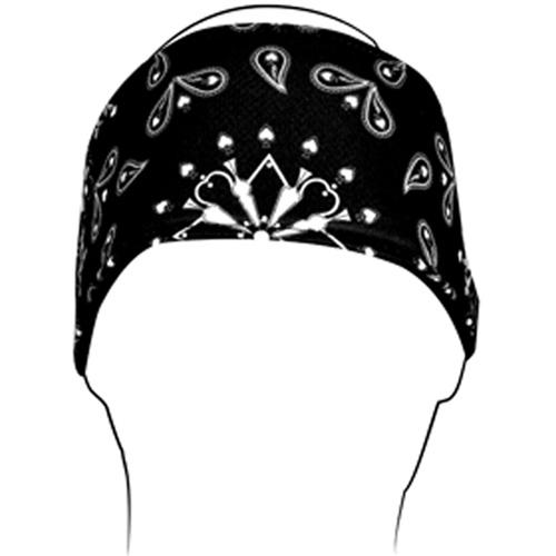 Headband Polyester Black Paisley