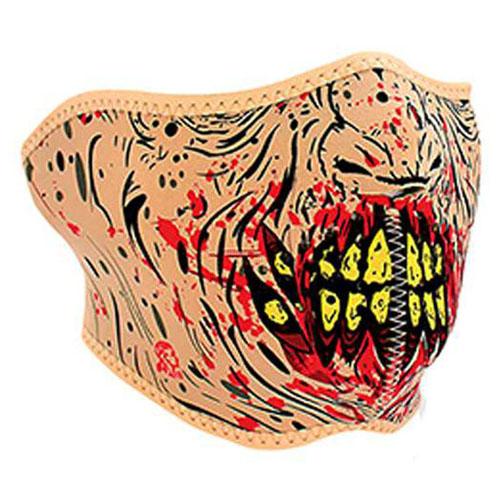 Half Mask Neoprene Zombie