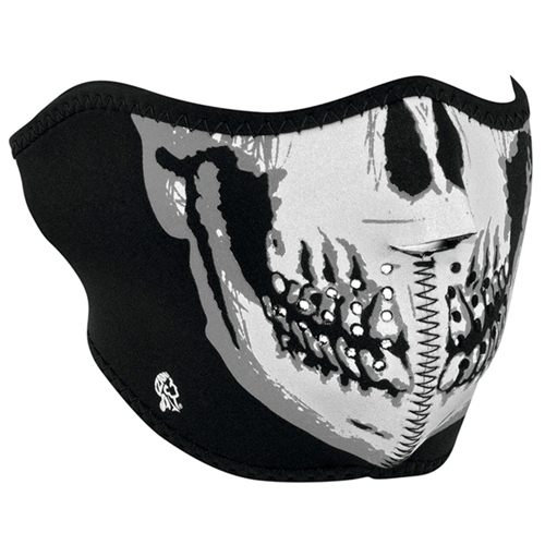 Half Mask Neoprene Reflective Skull