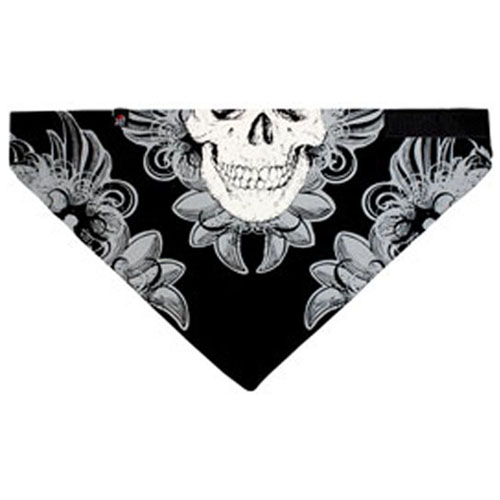 3-IN-1 Bandanna Cotton Ornate Skull Gray