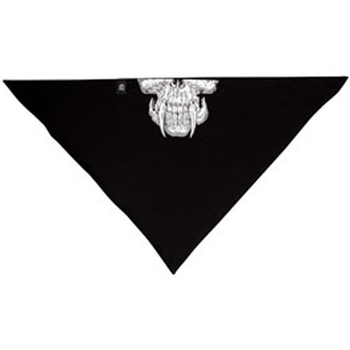 3-IN-1 Bandanna Bamboo-Cotton Skull w- Fangs