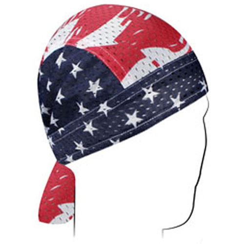 Vented Flydanna and reg Polyester Mesh Patriotic