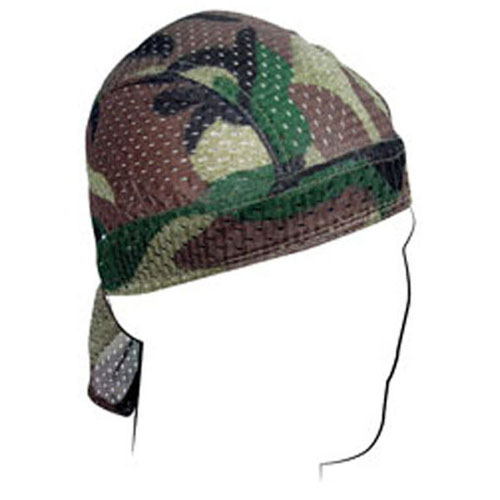 Vented Flydanna and reg Polyester Mesh Woodland Camo