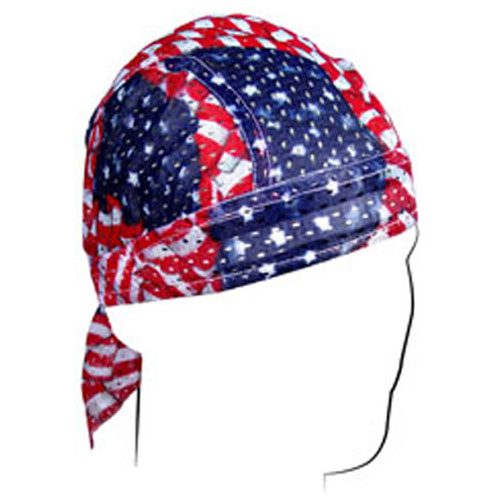 Vented Flydanna and reg Polyester Mesh Wavy American Flag