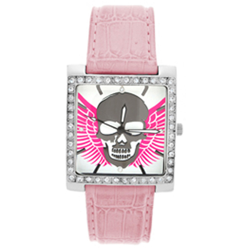 Highway Honey and reg Womens Watch Pink with Skull and Wings