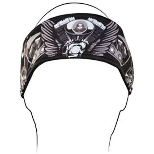 Headband Polyester V-Twin Wings